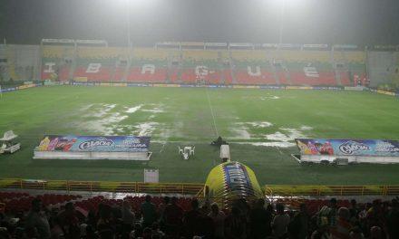 Suspendido por fuerte lluvia Tolima vs. Junior