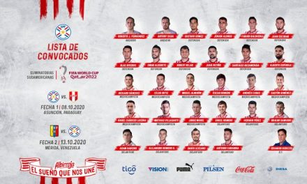 Paraguay entregó su nómina