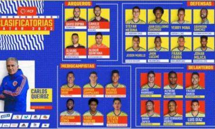 Lista   de convocados selección  Colombia.